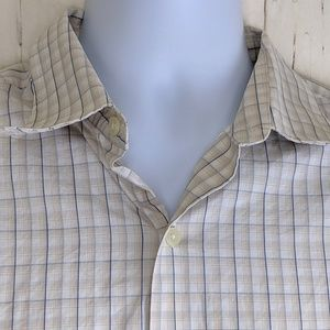 Tasso Elba Size L Button Up Shirt Casual L/S Check